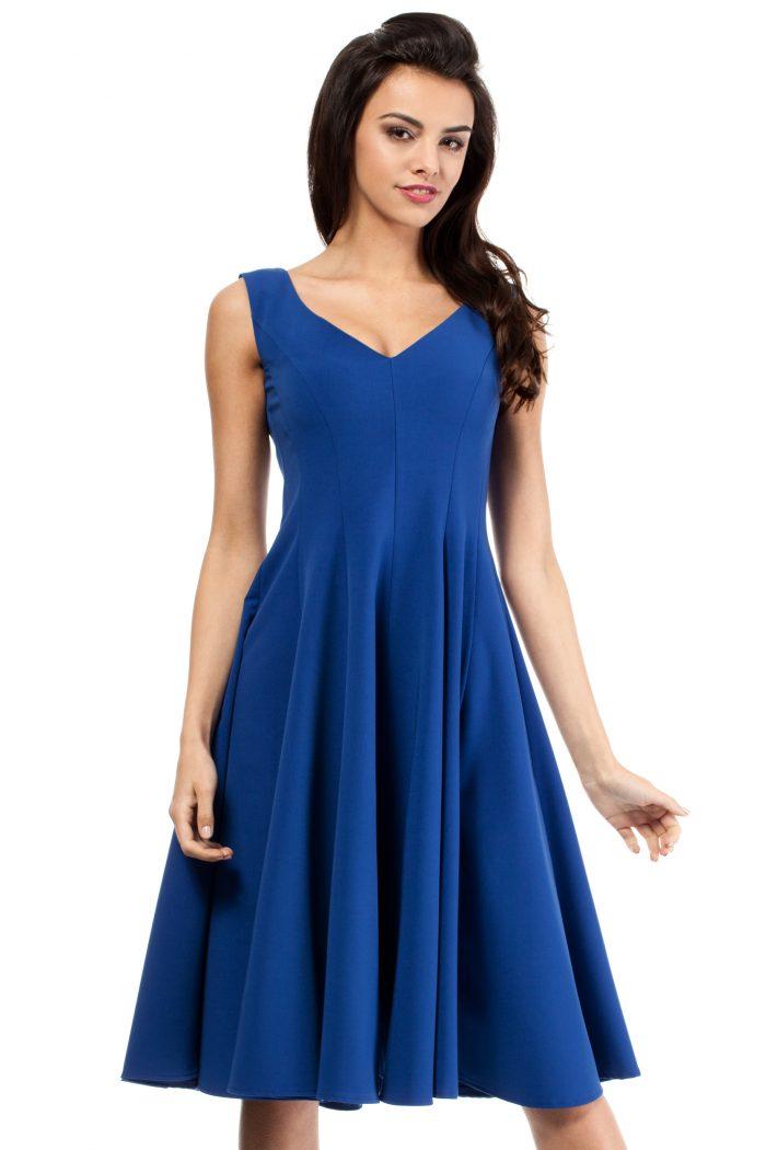 Rochie elegantă Moe albastru