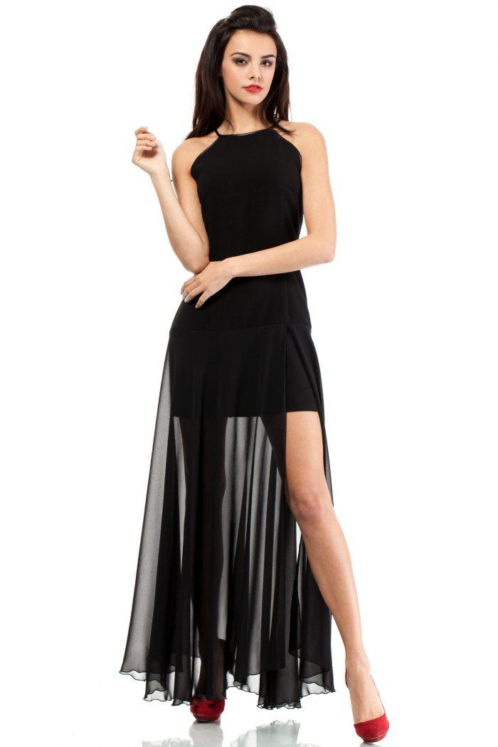 Rochie lungă Moe negru