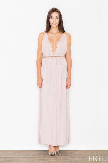 Rochie lungă Figl roz