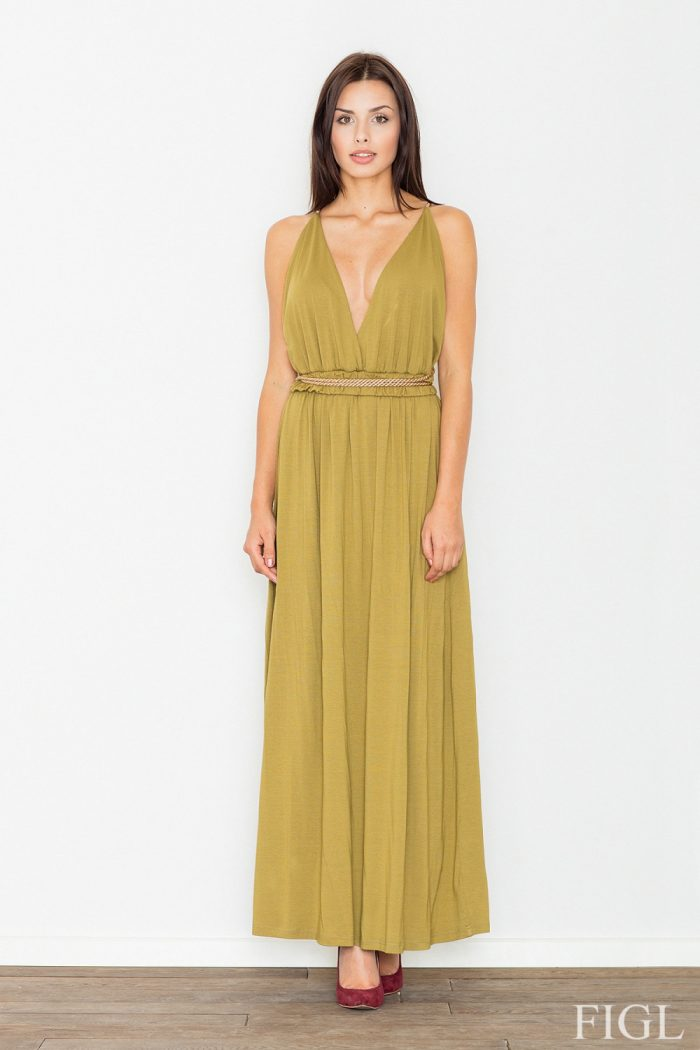 Rochie lungă Figl verde