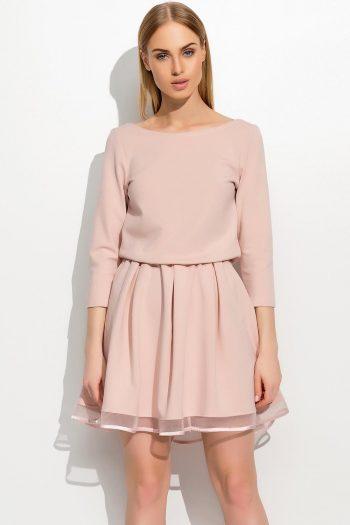 Rochie elegantă Makadamia roz