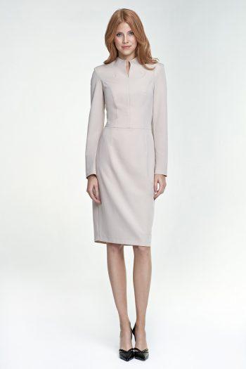 Rochie elegantă Nife bej