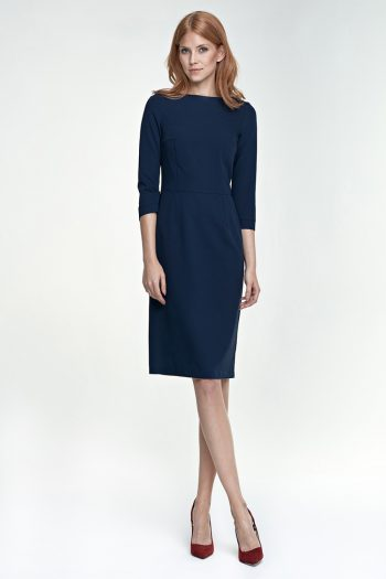 Cocktail rochie Nife Bleumarin