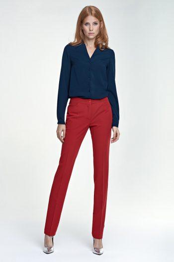 Pantaloni de damă Nife roşu