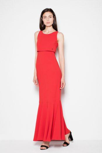 Rochie lungă Venaton roşu