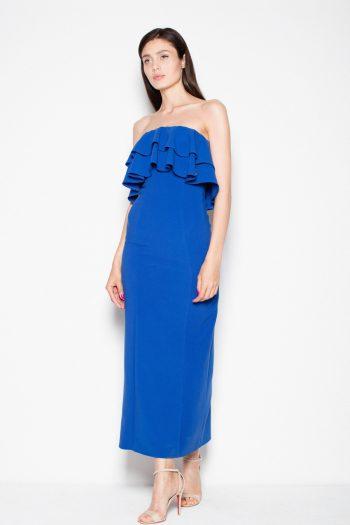 Rochie lungă Venaton albastru