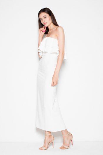Rochie lungă Venaton bej