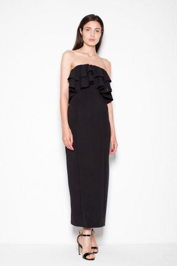 Rochie lungă Venaton negru