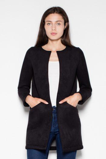 Palton Venaton negru