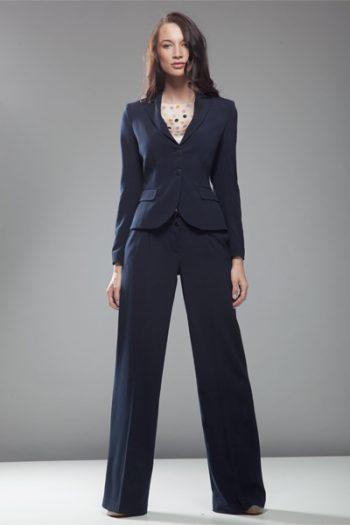 Pantaloni de damă Nife albastru