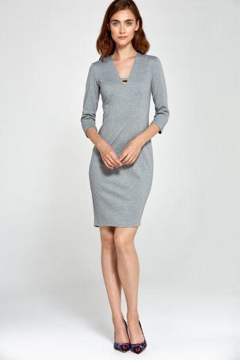 Rochie de zi Nife gri