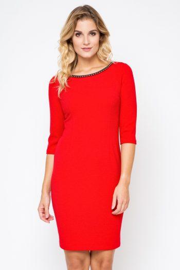 Rochie elegantă Bass roşu