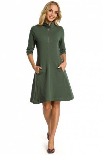 Rochie de zi Moe verde