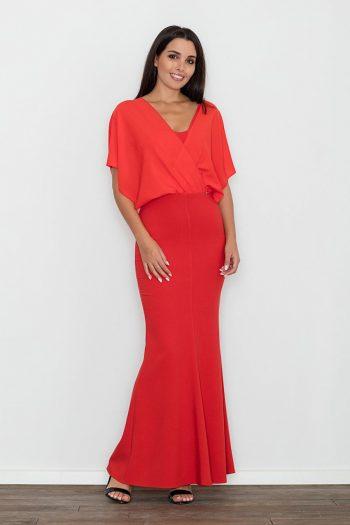 Rochie lungă Figl roşu