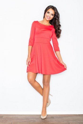 Rochie elegantă Figl roz