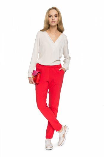 Pantaloni de damă Style roşu