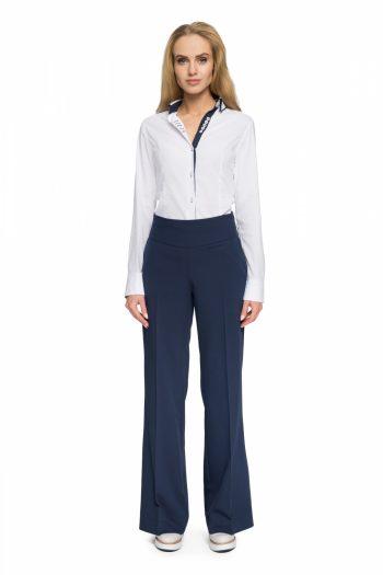 Pantaloni de damă Style Bleumarin