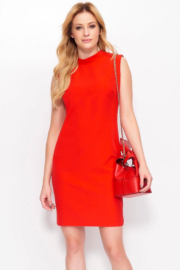 Rochie de seară Makadamia roşu