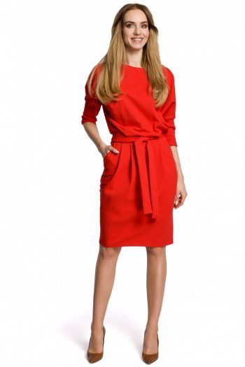 Rochie de zi Moe roşu