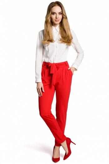 Pantaloni de damă Moe roşu
