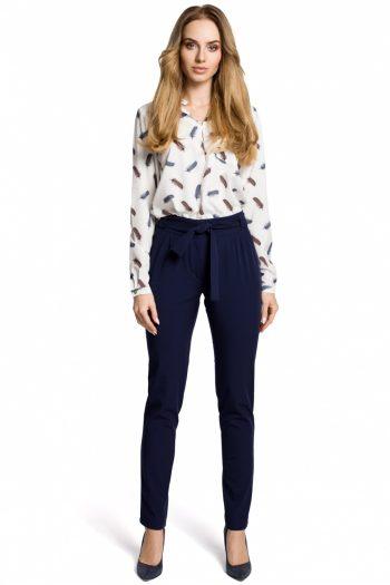 Pantaloni de damă Moe Bleumarin