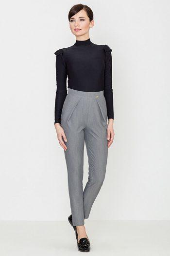 Pantaloni de damă Lenitif gri