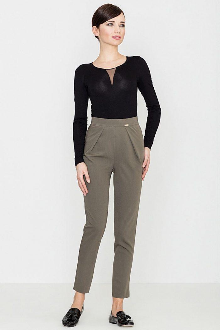 Pantaloni de damă Lenitif verde