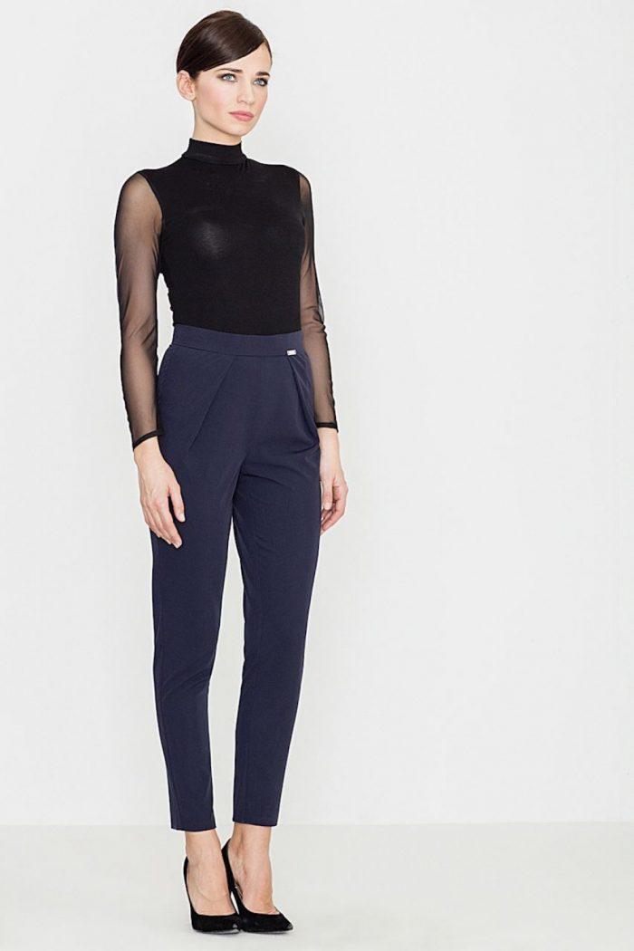Pantaloni de damă Lenitif Bleumarin