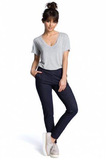Pantaloni de damă BE Bleumarin