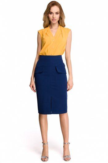 Fustă Style Bleumarin