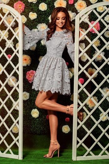 Rochie elegantă Lemoniade gri