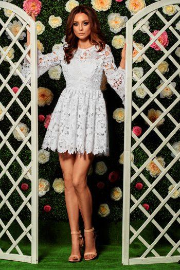 Rochie elegantă Lemoniade bej