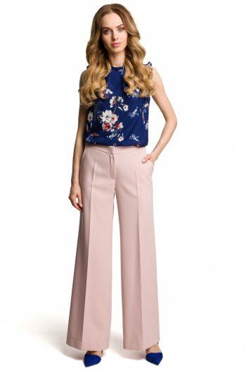 Pantaloni de damă Moe roz