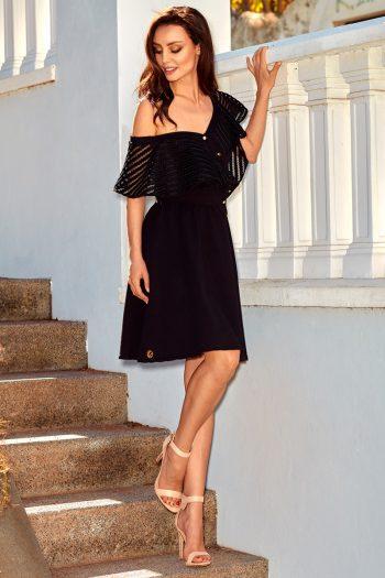 Rochie elegantă Lemoniade negru