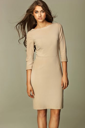 Rochie de zi Nife bej