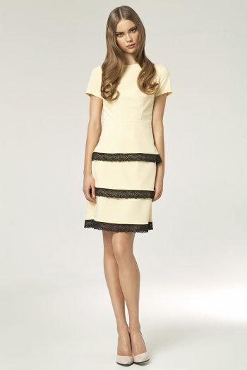 Rochie de zi Nife galben