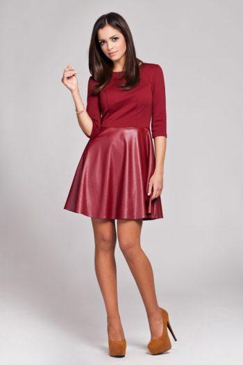 Rochie elegantă Figl roşu