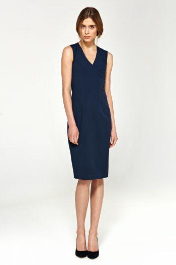 Rochie elegantă Nife Bleumarin