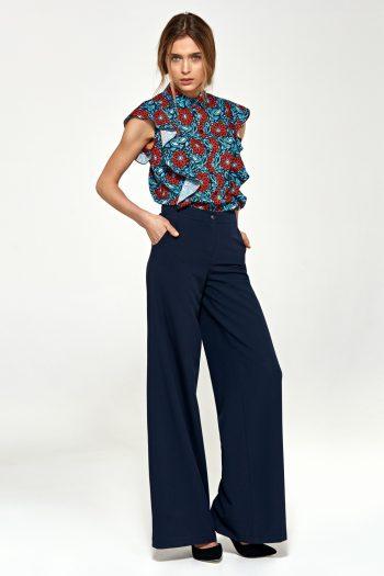 Pantaloni de damă Nife Bleumarin