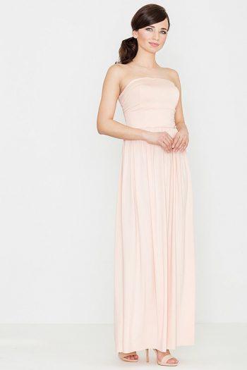 Rochie lungă Lenitif roz