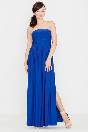 Rochie lungă Lenitif albastru