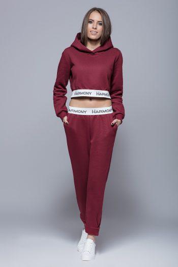 Pantaloni de trening Eharmony roşu