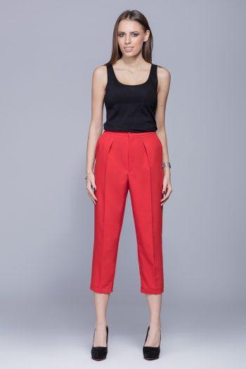 Pantaloni de damă Eharmony roşu