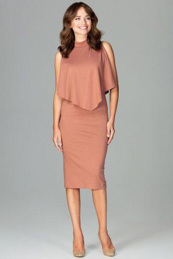 Rochie elegantă Lenitif maro