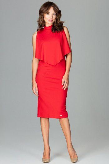Rochie elegantă Lenitif roşu