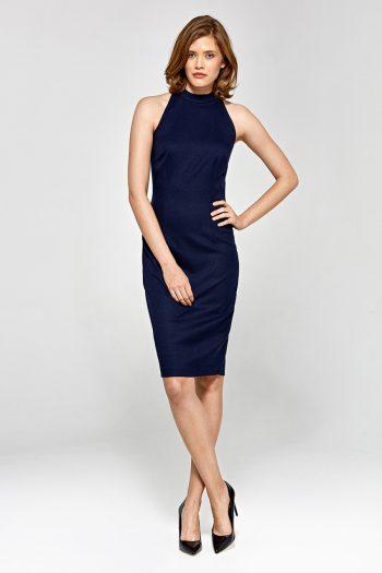 Rochie elegantă Colett Bleumarin