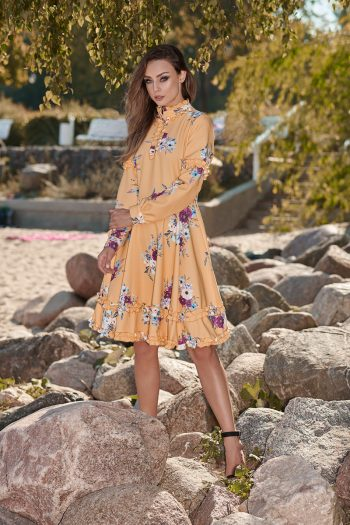 Rochie elegantă Lemoniade galben