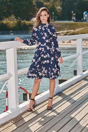 Rochie elegantă Lemoniade Bleumarin