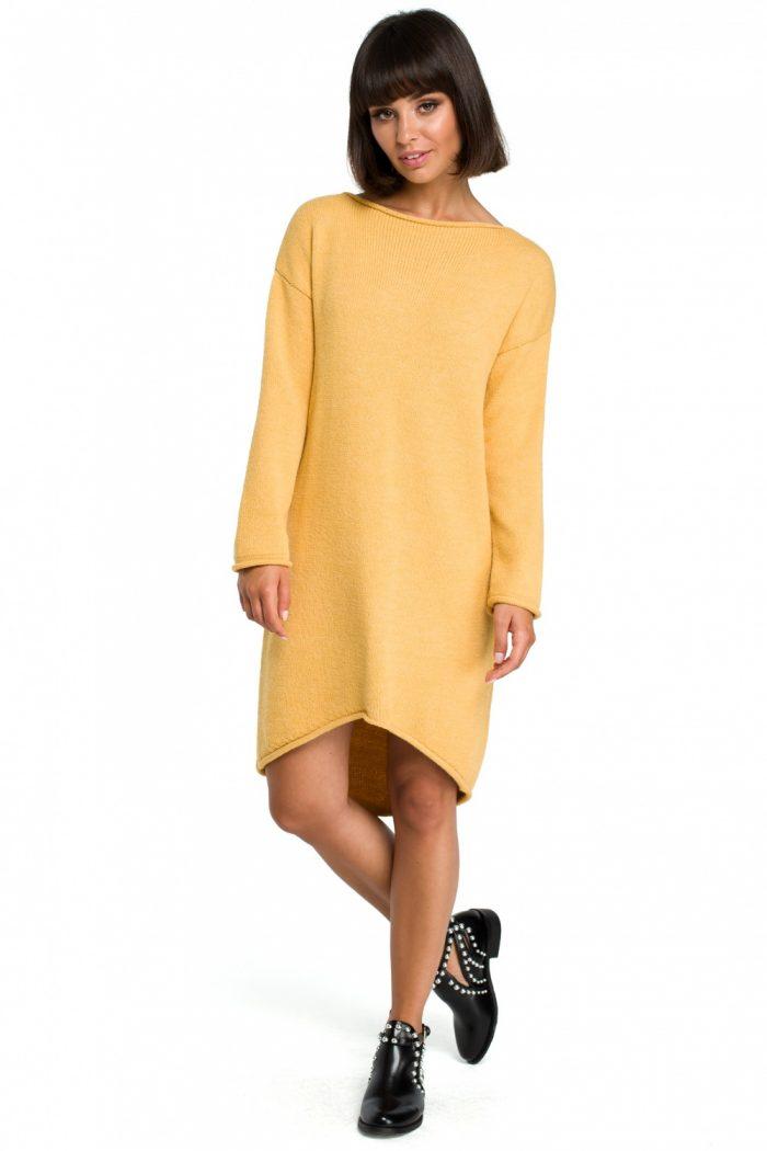 Rochie de zi BE Knit galben
