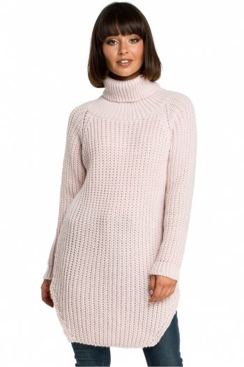 Pulover lung BE Knit roz